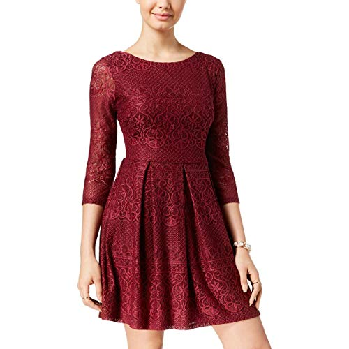 B. Darlin Womens Juniors Lace Overlay Three-Quarter for sale  Delivered anywhere in USA