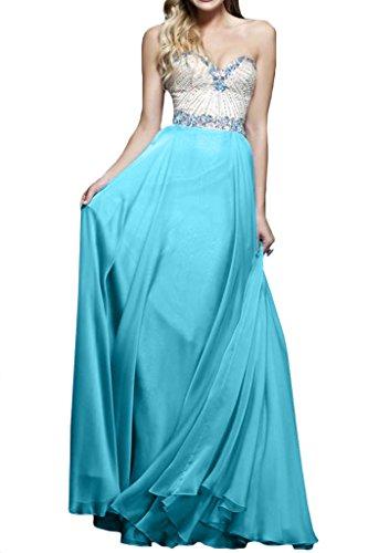 Damen Herz Himmelblau Strass Ivydressing Linie Abendkleid A Ausschnitt Festkleider Promkleid OdROq