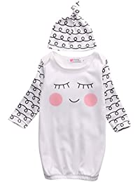 2pcs Baby Boys Girls Rompers Long Sleeve Cotton Eyes Rosy...