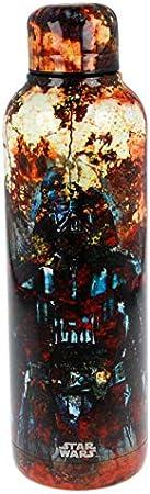 Star Wars | Botella de Agua Reutilizable de Acero Inoxidable | Cantimplora Termo con Doble Aislamiento para 12 Horas de Bebida Caliente y 18 Horas de Bebida Fría - Libre BPA - 515 ml