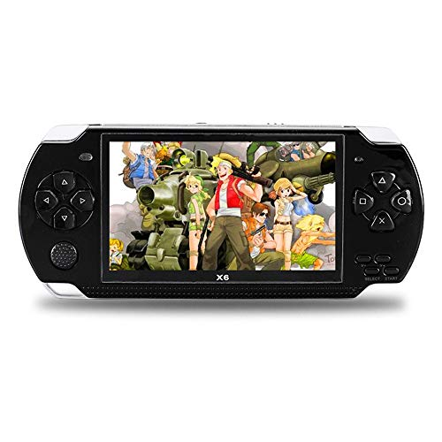Handheld Game Console with Built in Games,Portable Video Games for Kids Retro,Built-In 500 Classic Video Games Player Gameboy with 4.3'' 8GB System for Birthday Presents Kids Children Adults (Black) by Womdee (Image #1)