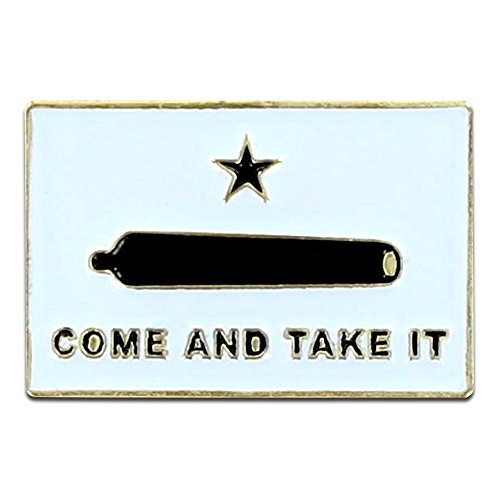 Online Stores Gonzales Flag Lapel Pin - Come and Take It (Gonzales Store)