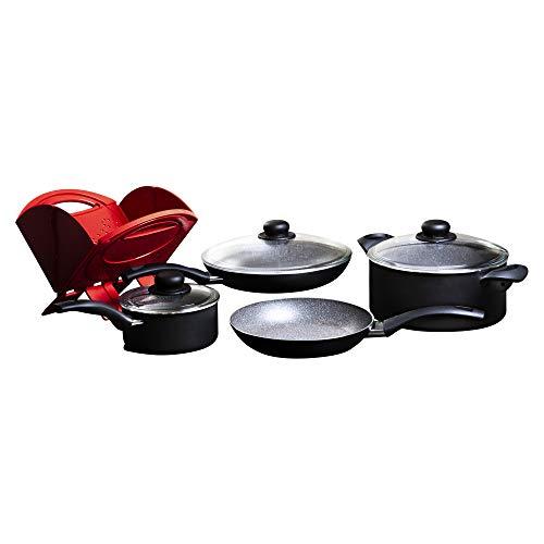 BALLARINI Matera cookware Set, 8-pc, Black