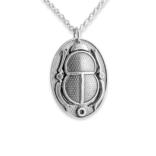 Scarab Cartouche (Ancient Egyptian Cartouche Scarab Beetle Amulet Necklace (24 Inches))