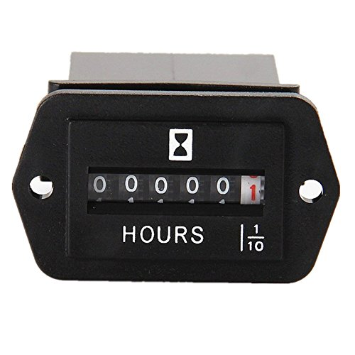 Aimilar DC 6-50V Mechanical Hour Meter Hourmeter for Diesel Engine Generator Boat Motorcross Motor Truck Tractor