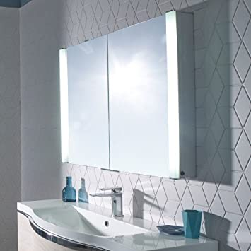 Roper Rhodes Slimline PERCEPTION Double Mirror Bathroom Wall Cabinet PE1000