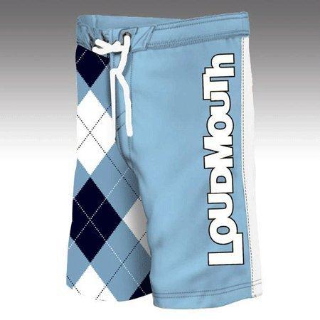Loudmouth Golf: Men's Boardshorts - Blue & White - Size 38