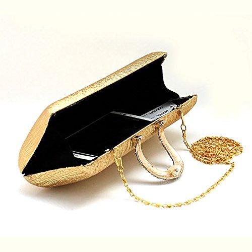 YYW Evening Bag - Cartera de mano para mujer plata