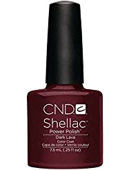 CND Shellac Nail Polish, Dark Lava, 0.25 fl. oz.