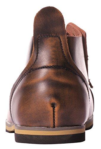 Ujoowalk Heren Kant-up Enkel Desert Chukka Boots Brown-0