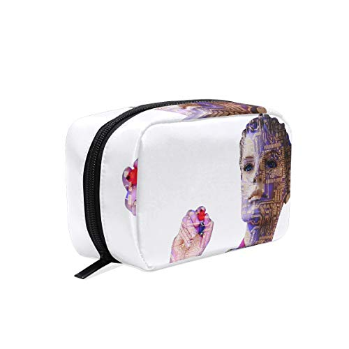 Makeup Bag Robot Artificial Intelligence Woman Cosmetic Pouch Clutch ()