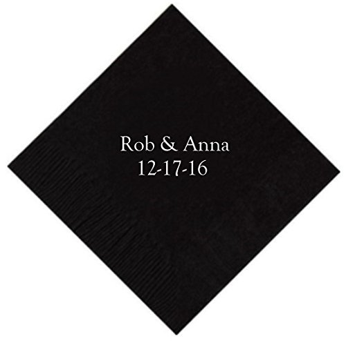 Personalized Cocktail, Beverage or Dessert Napkins - 2 Line (100)]()