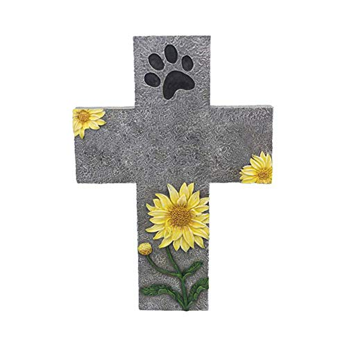 GrayGraygood Personalised Cat Dog Memorial Plaque Stake, Pet Memorials Stone, Pet Dog Picture Grave Memorials Stone Marker Plaque Sturdy Headstone for Indoor Outdoor (For Graves Slate Headstones)
