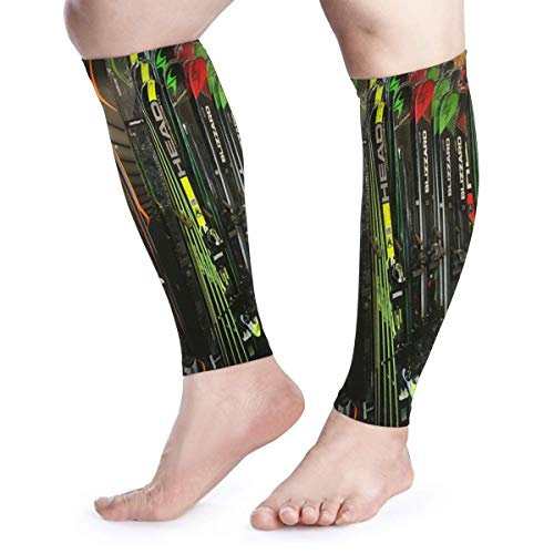 BLongTai Twin Tip Snow Skis Calf Compression Sleeve Men Womens Running Leg Sleeve for Shin Splint Muscle Pain Relief (1 Pair)