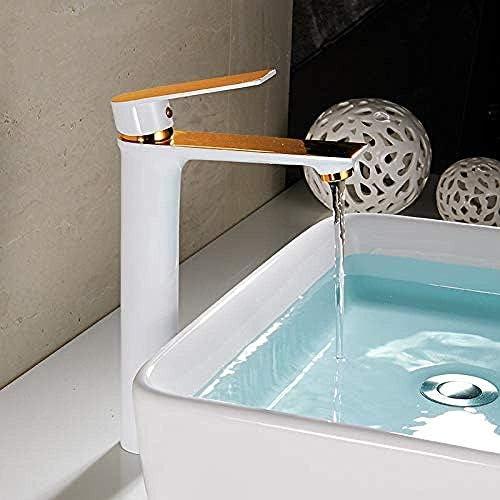CLJ-LJ 蛇口キッチンタップ流域水栓トールバスルームのシンクの蛇口タップバース滝ミキサータップデッキは水のタップをマウント