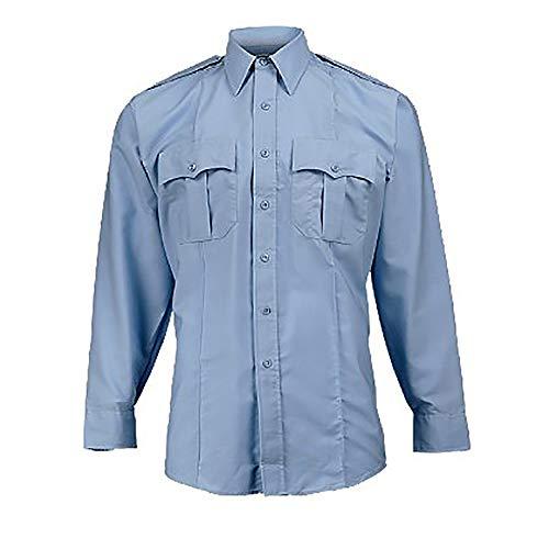 - Elbeco Men's Paragon Plus Long Sleeve Uniform Shirt - Light Blue, Neck 18.0, Sleeve 34/35