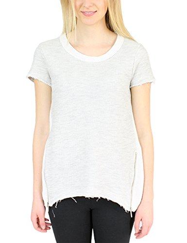 Eleven Paris Bassus W - Camiseta Mujer Grau (LIGHT GREY CHINE M02)