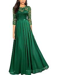 Women's Formal Floral Lace Wedding Bridesmaid Maxi Dress
