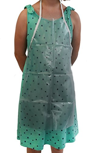 Clear Rubber Apron Bib, Extra Small (15'' W, 22'' L) - Eisco Labs by EISCO