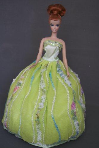 Barbie Doll Clothes Dress: Green Dress Fit 11.5 Inch Barbie Dolls, Baby & Kids Zone