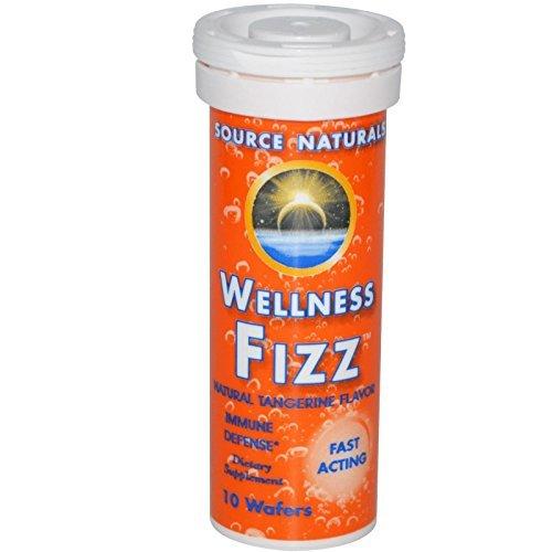 Source Naturals Wellness Fizz Tangerine, Tangerine 10 Wafers by Source Naturals