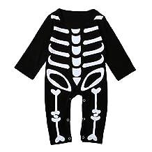 Baby Boys Girls Skeleton Rompers Toddler Kids Halloween Overall Costume