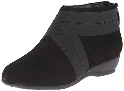Trotters Latch Women's Boot Black Suede rYwxr7q