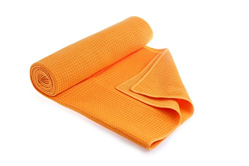 "Yoga non-slip yoga towel (72 ""x26"") with Silicone Beads, exclusive pocket design, ultrafine fiber,perfect hot yoga£¬Sweat Absorbent,Improves Your Grip"
