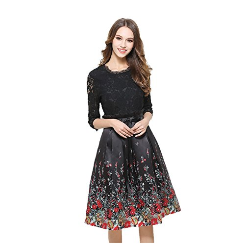 Exposed Bracket Support (JBZYM VD79048C1 Five Sleeves Sleeves In The Waist Women Dresses - Size)