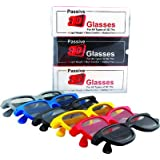 Passive 3D TV Glasses Light Weight & Battery Free 3D Glasses for 3D Movies