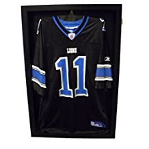 Football Jersey Display Case 30BJ 98% UV Protection Baseball / Football Jersey Frame Display Case Shadow Box, BLACK by Pennzoni Display