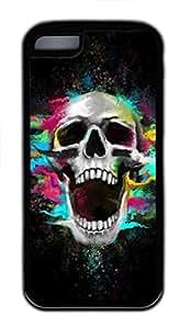 CSKFUCustom Soft Black TPU Protective Case Cover for iphone 6 5.5 plus iphone 6 5.5 plus ,Skeleton Man Case Shell for iphone 6 5.5 plus iphone 6 5.5 plus