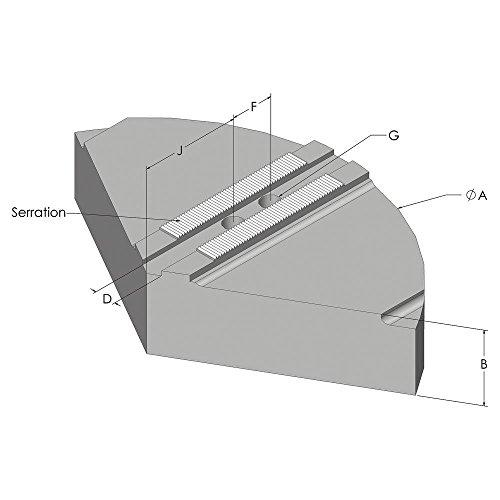 Abbott Workholding Cast Aluminum 319 1.5mm x 60 Degree Style Q Serrated Pie Chuck Jaw, 6