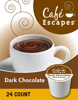 Cafe Escapes(TM) Dark Chocolate Hot Cocoa K-Cups(R), Box Of 24 by Café Escapes
