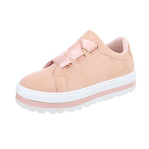 Chaussures Low Femme Sneakers Baskets design Rose Ital Espadrilles Plat Mode On5q8wwcH