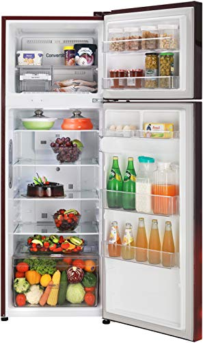 LG 308 L 2 Star Smart Inverter Frost-Free Double Door Refrigerator (GL-T322RSCY, Convertible, Scarlet Charm) 2021 July Frost Free Refrigerator: Auto defrost function to prevent ice-build up Capacity 308 L: Suitable for families with 3 to 4 members or bachelors Energy Rating: 2 Star