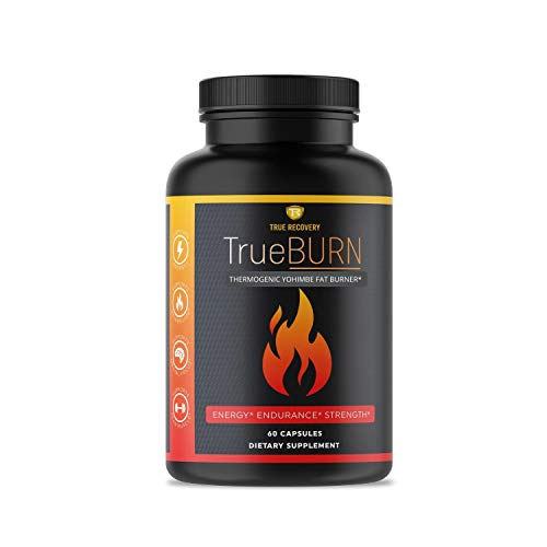 TrueBURN Thermogenic Fat Burner & Appetite Suppressant Weight Loss Supplement with Yohimbe Bark, Green Tea Extract…