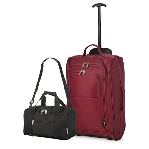 Wine Set cm Main Black Black Ryanair 42 Luggage Cities Cabin Approved On Carry 54 and Second 5 L BothHand xT01qn