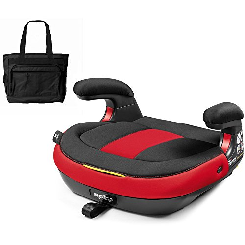 Peg Perego Viaggio Shuttle Backless Booster - Monza with Stylish Diaper Bag by Peg Perego