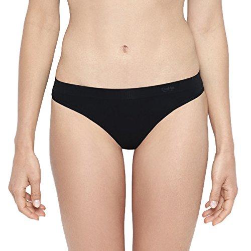 BeMe NYC Women's Invisibles Bikini Panties Small Pitch Black