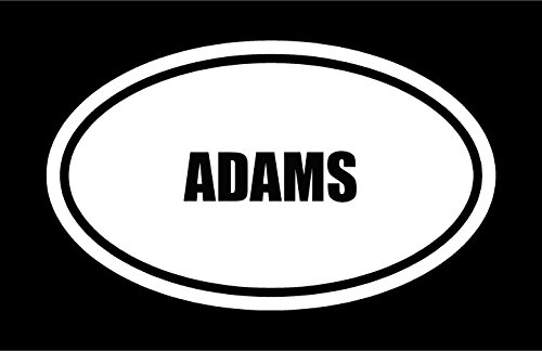 6-die-cut-white-vinyl-adams-name-oval-euro-style-decal-sticker