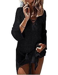 Women's Fashion Swimwear Crochet Tunic Cover Up/Beach Dres