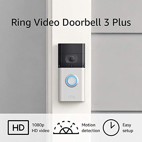 Ring Video Doorbell 3 Plus – enhanced wifi, stepped forward movement detection, 4-second video previews, simple set up