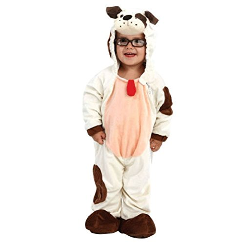 [Ponce Toddler Puppy Dog Costume Unisex Boys Girls Child 3T-4T Kids Hooded Jumpsuit] (Pharaoh Headdress)