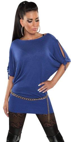 koucla–Jersey para mujer con aire libre hombros & fledermausärmeln Talla Única (34–�?2) Azul