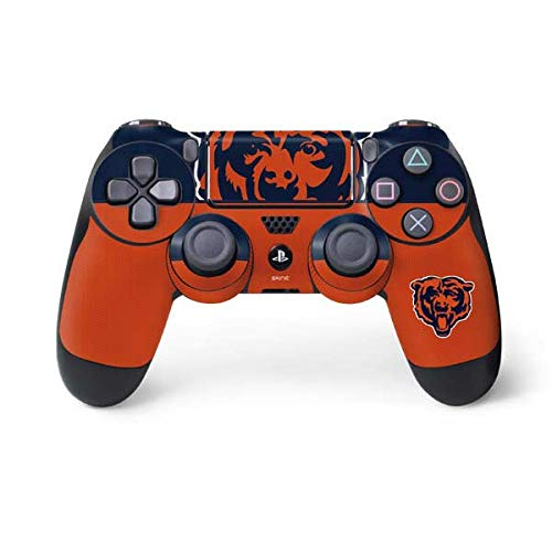 Skinit Chicago Bears Zone Block PS4 Controller Skin - Officially Licensed NFL PS4 Decal - Ultra Thin, Lightweight Vinyl Decal Protective Wrap