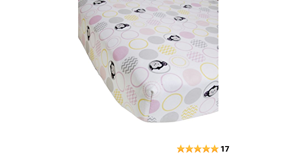 Fully Elastic Fitted Crib Sheet Pink Checkerboard