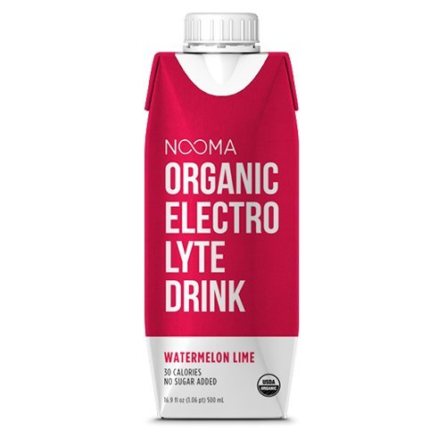 NOOMA Organic Electrolyte Drink, Watermelon Lime, 16.89 Fluid Ounce (Pack of 12)
