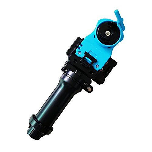 Gyro Performance Plastic 4D Launcher & Gyro Launch Handle Grip Fight Toy (Grip+Blue ()