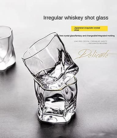 Whisky Glasses Whiskey Tumblers Set of 6 - Premium Lead Free Whiskey Glasses - Old Fashioned Cocktail Glass for Scotch, Bourbon - Elegant Vintage Personalised Gift - Glassware Gifts (250ml/8.8oz)